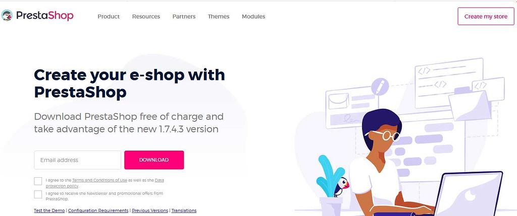 install PrestaShop